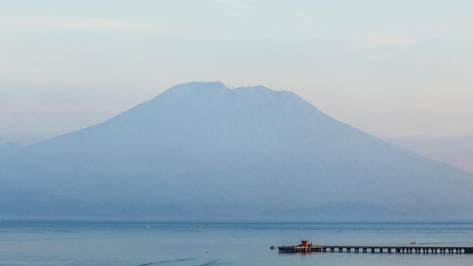 Výhled na sopku Gunung Agung
